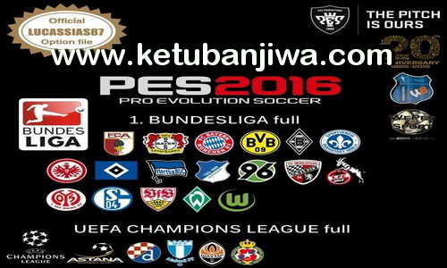 PES 2016 XBOX 360 Option File v1 Update 19 October 2015 by Lucassias87 Ketuban Jiwa