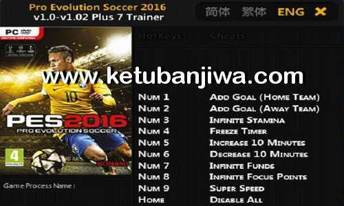 PES 2016 v1.0 - v1.02 Plus 7 Trainer Tool by FLiNG Ketuban Jiwa