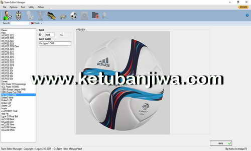 PES 2016 PC-PS3-XBOX 360 Team Editor Manager 1.8.2 Tool by Lagun-2 Ketuban Jiwa