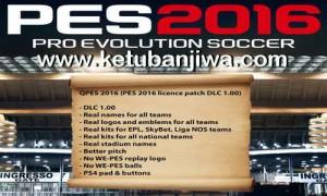 PES 2016 PC QPES Licence Patch DLC 1.0 Ketuban Jiwa