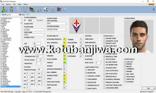 PES 2016 PC - PS3 - XBOX Team Editor Manager 1.8.5 Tool by Lagun-2 Ketuban Jiwa