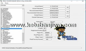 PES 2016 Real Player Name v3.0 Tool by GOALARG Ketuban Jiwa