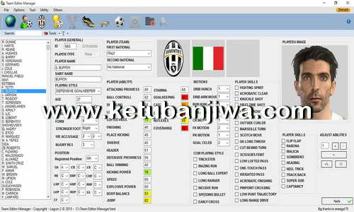 PES 2016 Team Editor Manager 1.9.0 Beta Tool by Lagun-2 Ketuban Jiwa