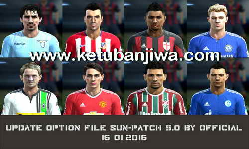 PES 2013 Option File Update 16 January 2016 For SUN-Patch 5.0 by Official Ketuban Jiwa