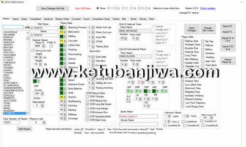 PES 2016 Dino Editor 2.4.2 Tool For PC - PS3 - XBOX360 by Smeagol75 Ketuban Jiwa