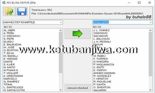 PES 2016 Master League ML - BL The Legend Editor Tool by Buhalo88 Ketuban Jiwa