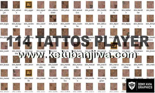 PES 2016 Tattoo Pack v2 by Donyavia Ketuban Jiwa