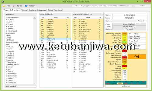 PES Next-Gen Editor 2016 Beta 0.5.0 by Razib_46 Ketuban Jiwa