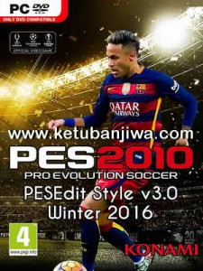 PES 2010 PESEdit Style Patch 3.0 Update Full Winter Transfer 2016 Single Link Ketuban Jiwa