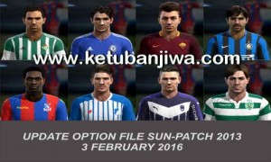 PES 2013 Option File Sun Patch 5.0 Update 03 February 2016 by Official Ketuban Jiwa