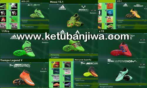 PES 2016 HD Bootpack 100 Boots 2.0 by Splendids Ketuban Jiwa