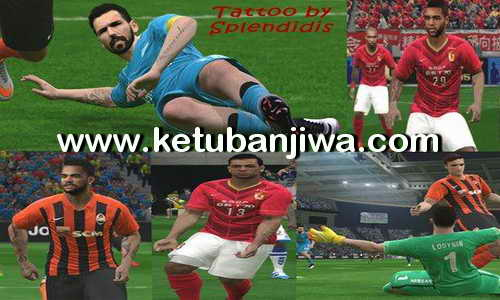 PES 2016 New Tattoo Pack 209+ v1.0 by Splendidis Ketuban Jiwa