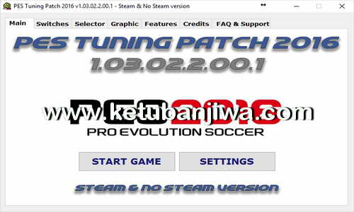 PES 2016 PES Tuning Patch v1.03.02.2.00.1 AIO Ketuban Jiwa