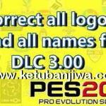 PES 2016 Correct Logos + Names Patch For DLC 3.0