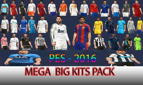 PES 2016 Mega Big Kits Pack by DzhonX Ketuban Jiwa