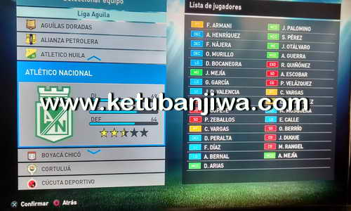 PES 2016 PS3 NPUB Option File v3 Liga Aguila by Juanjosegv8 Ketuban Jiwa