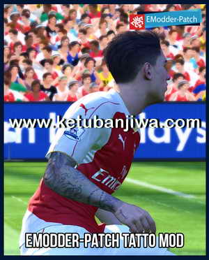 PES 2016 Tattoo Pack 300 + Reset by EModder-Patch