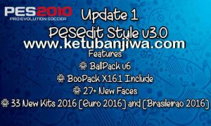 PES 2010 PESEdit Style Patch 3.0 Update 1 18-04-2016 Ketuban Jiwa