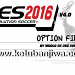 PES 2016 PS3 Option File v4 DLC 3.0 by World Of PES