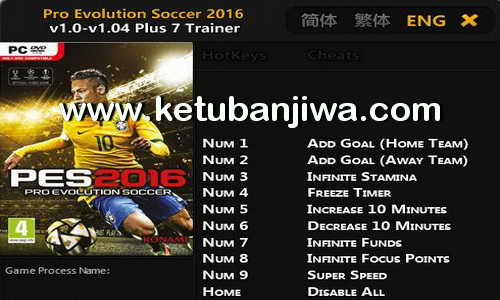 PES 2016 v1.04 Plus 7 Trainer Tool by FLiNG Ketuban Jiwa