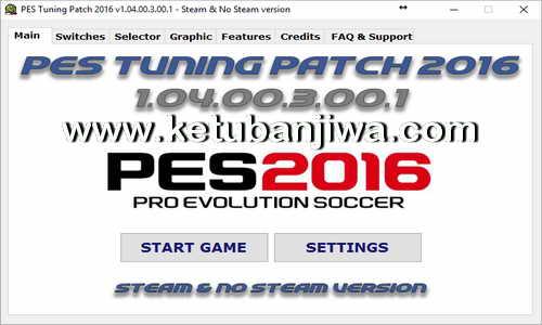 PES 2016 PES Tuning Patch v1.04.00.3.00.1 AIO Ketuban jiwa