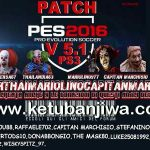 PES 2016 PS3 PupperThai Patch 5.1