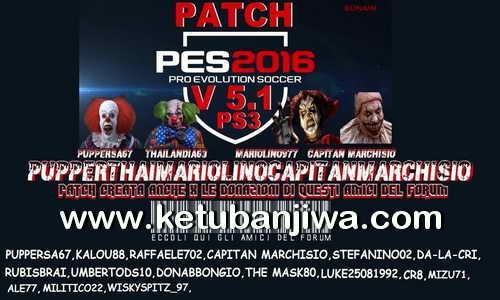 PES 2016 PS3 PupperThai Mariolino Capitan Marchisio Patch v5.1 Ketuban Jiwa