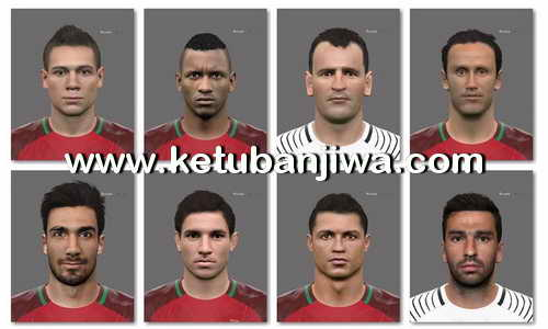 PES 2016 Portugal Facepack EURO 2016 23 Player by Tran Ngoc Ketuban Jiwa