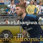 PES 2016 Tattoo Pack 350 Marceu + v3 for PTE Patch 5.1