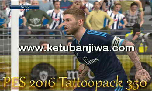 PES 2016 Tattoo Pack 350 Marceu + v3 for PTE Patch 5.1 by Ludvan Ketuban Jiwa