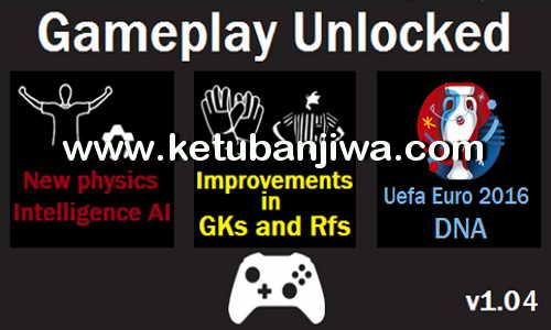 PES 2016 GamePlay Unlocked 1.04 EURO 2016 DNA by Moba Ketuban Jiwa