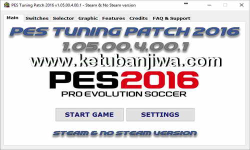 PES 2016 PES Tuning Patch v1.05.00.4.00.1 AIO Ketuban Jiwa