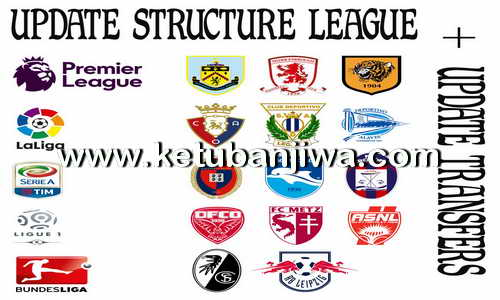 PES 2013 League Structure + Transfer Update Season 2016-2017 by Boris Ketuban Jiwa