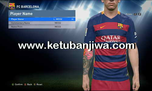 PES 2016 3DM Crack 1.05 Support Tattoo Pack 400 by Aliefan Ifan Ketuban Jiwa