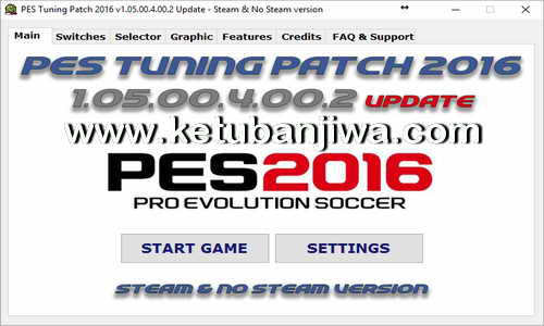 PES 2016 PES Tuning Patch v1.05.00.4.00.2 Update Ketuban Jiwa