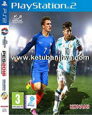 PES 2016 PS2 EURO 16 + Copa America v2.0 Full ISO Ketuban Jiwa