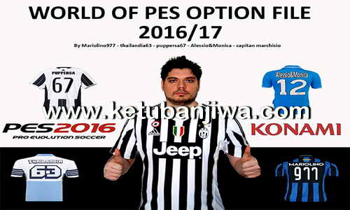 PES 2016 PS3 Option File Season 2016-2017 by World of PES Ketuban Jiwa