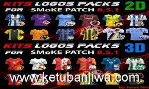 PES 2016 Kits Logos Packs 2D & 3D for SMoKE Patch 8.5.1 by JesusHrs