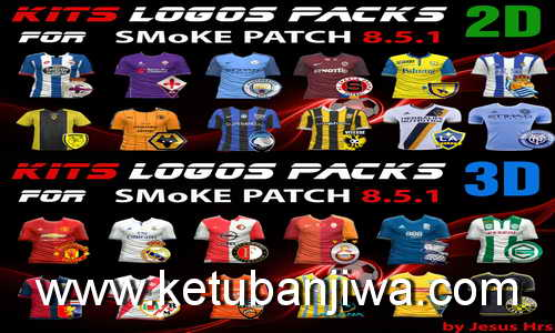 PES 2016 Kits Logos Packs 2D & 3D for SMoKE Patch 8.5.1 by JesusHrs