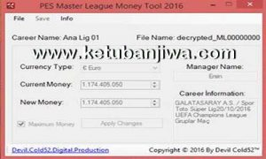 PES 2016 ML Money Tool v3.0 Final by Devil Cold52