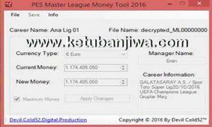 PES 2016 ML Money Tool v3.0 Final by Devil Cold52
