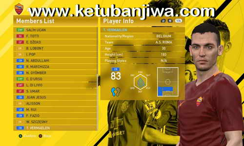 PES 2016 Option File 4.0 Transfer Update 09 August 2016 For PTE Patch 6.0 by Niniboy Ketuban Jiwa