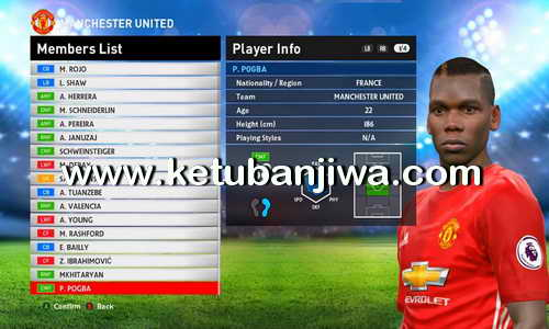 PES 2016 Option File Transfer Update 11.08.2016 For PES Professionals v4.1 Ketuban Jiwa