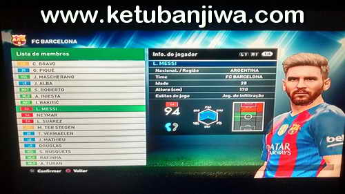 PES 2016 PS3 BLUS WS Patch 4.0 Season 16-17 Preview 1 Ketuban Jiwa