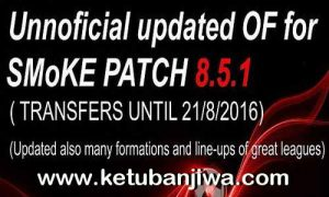 PES 2016 SMoKE 8.5.1 Option File Update 21/08/2016