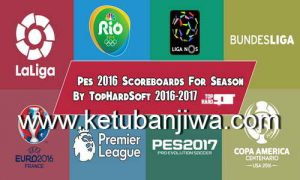 PES 2016 Scoreboards for Season 2016 / 2017 by TopHardSoft
