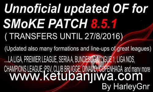 PES 2016 Smoke 8.5.1 Option File Update 27/08/2016
