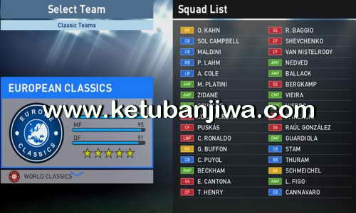 PES 2016 Updated Classics Teams For PTE Patch 6.0 by NikolaMKD95 Ketuban Jiwa