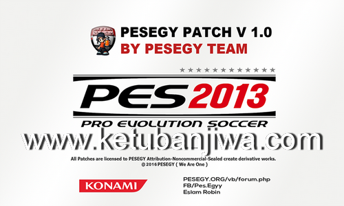 PES 2013 PESEGY Patch v1.0 Season 2016/2017 by Eslam Robin