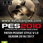 PES 2010 PESEdit Style Patch v1.0 Season 2016/2017